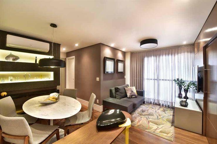 Espaço Alessandra Luz Casa & Jardim Eclectic style living room