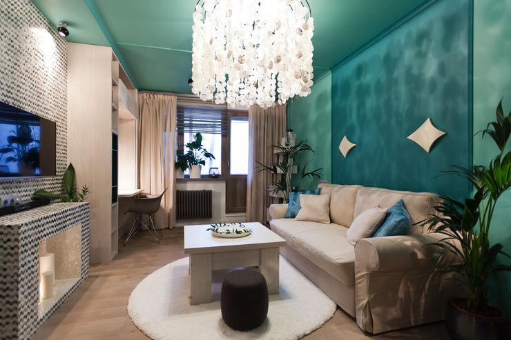 Artcrafts Ruang Keluarga Tropis Turquoise