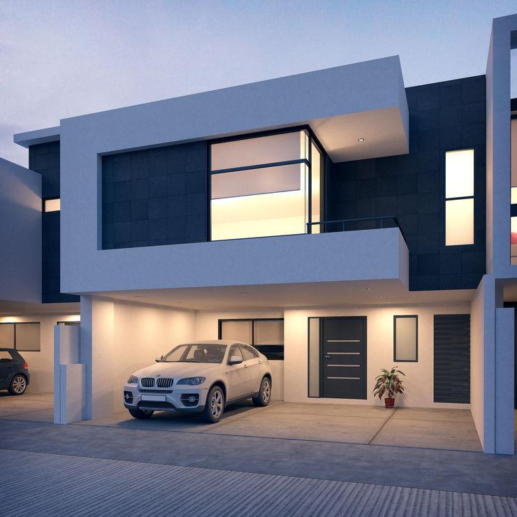 Conjunto habitacional Europa Valderrábano Arquitectos Casas modernas