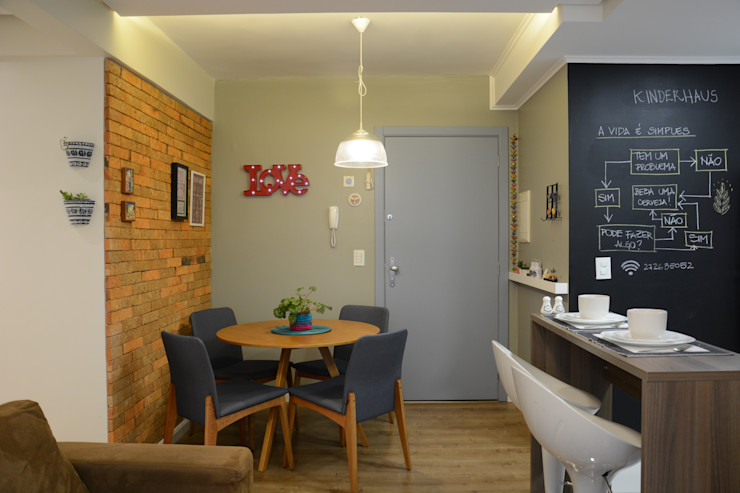 homify Modern dining room Bricks Multicolored
