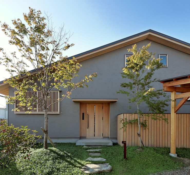 磯村建築設計事務所 Asian style houses Wood Grey