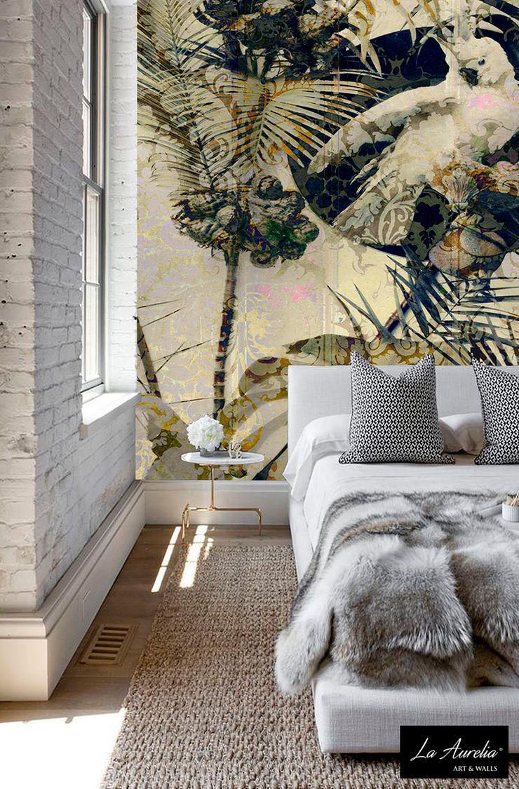 Secret Garden Wallpaper Collection by La Aurelia Art & Walls La Aurelia Walls & flooringWallpaper White