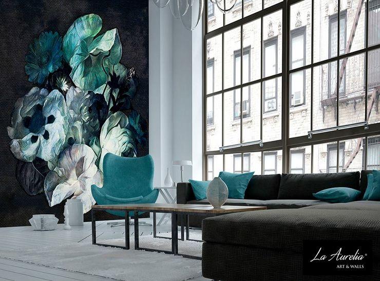 Secret Garden Wallpaper Collection by La Aurelia Art & Walls La Aurelia Walls & flooringWallpaper Blue
