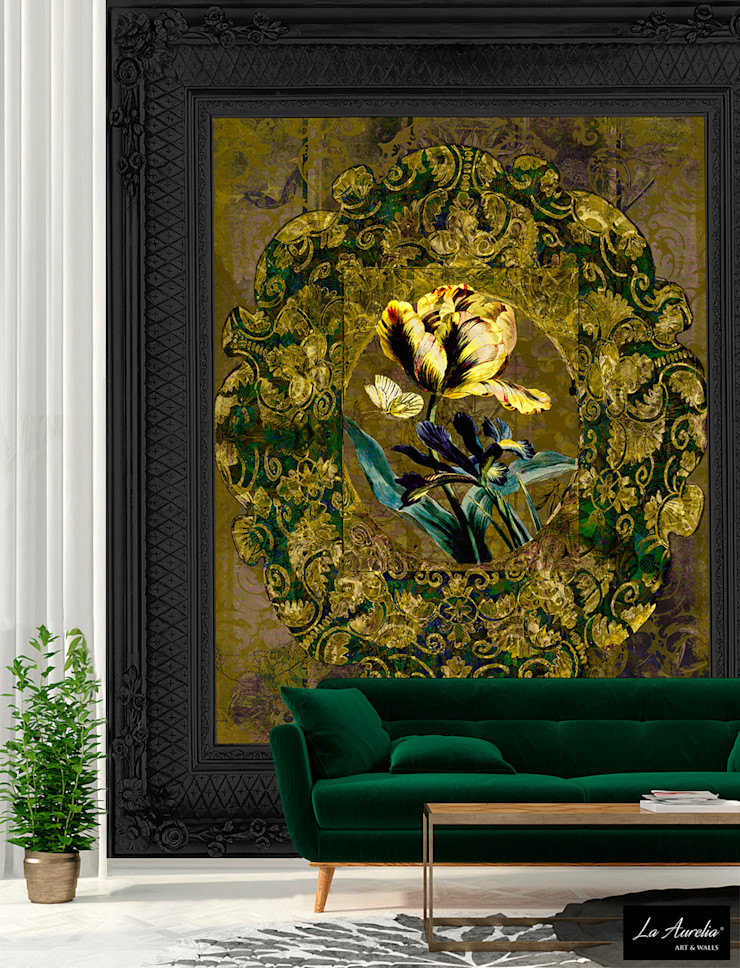 Secret Garden Wallpaper Collection by La Aurelia Art & Walls La Aurelia Walls & flooringWallpaper Yellow
