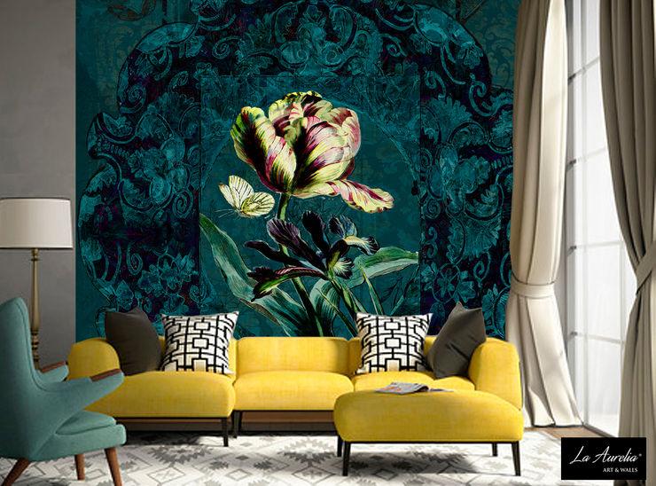 Secret Garden Wallpaper Collection by La Aurelia Art & Walls La Aurelia Walls & flooringWallpaper Green