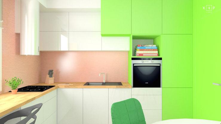 KPstudio Karolina Pajączkowska 現代廚房設計點子、靈感&圖片