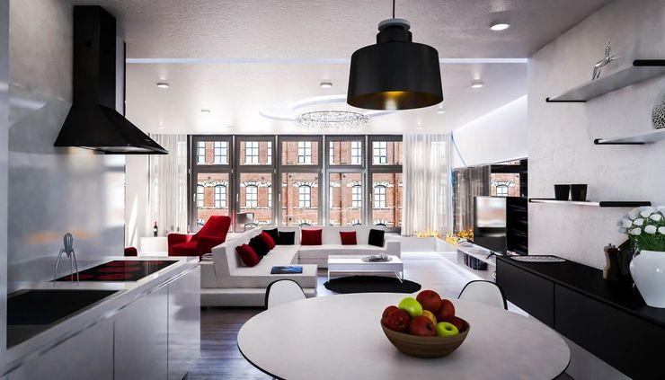 Ortles Denis Confalonieri - Interiors & Architecture Sala da pranzo moderna