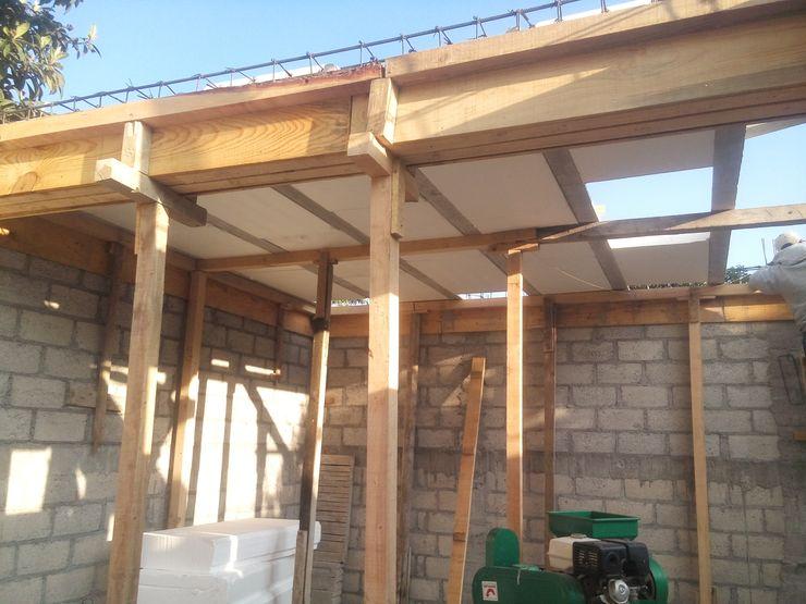 Vista de losa al momento de su colocación. taller garcia arquitectura integral Comedores rurales