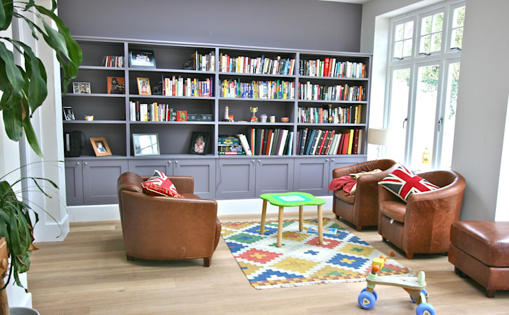 Richmond Kitchen Laura Gompertz Interiors Ltd غرفة المعيشة Purple/Violet