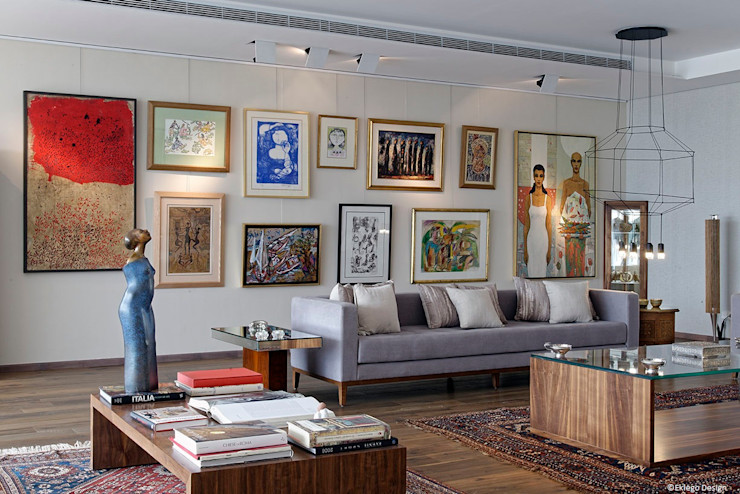 Reception area Jam Space Ltd Eclectic style living room