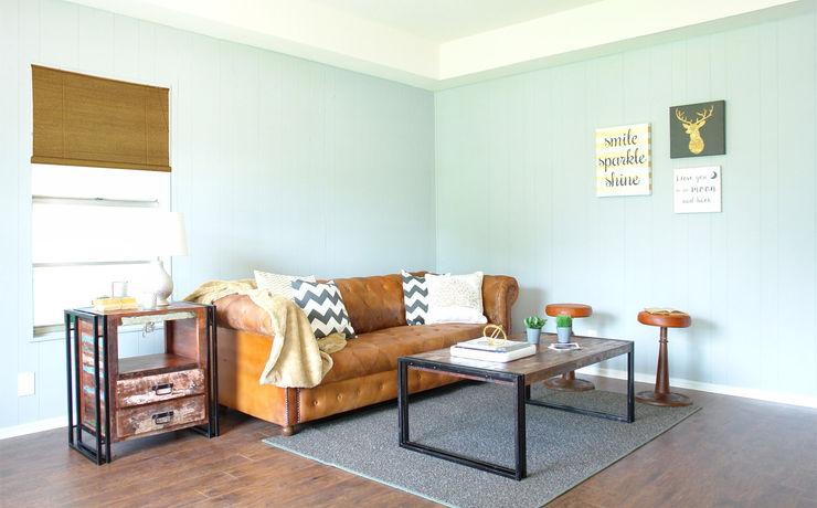 Home Staging Pecan Valley San Antonio Tx Noelia Ünik Designs Industrial style living room