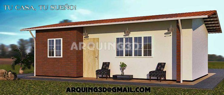 Arquing3d Classic style houses Bricks Beige