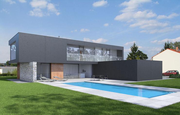 Gartenansicht Fichtner Gruber Architekten Moderne Häuser