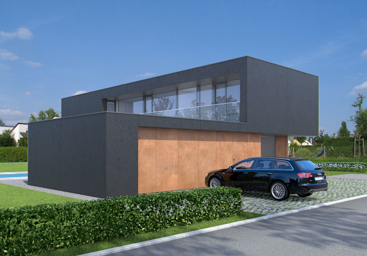 Straßenansicht Fichtner Gruber Architekten Moderne Häuser