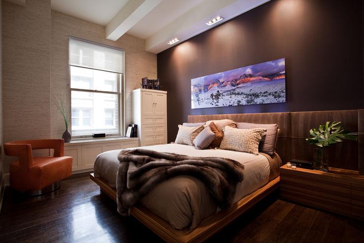 Bachelor Pad JKG Interiors اتاق خواب