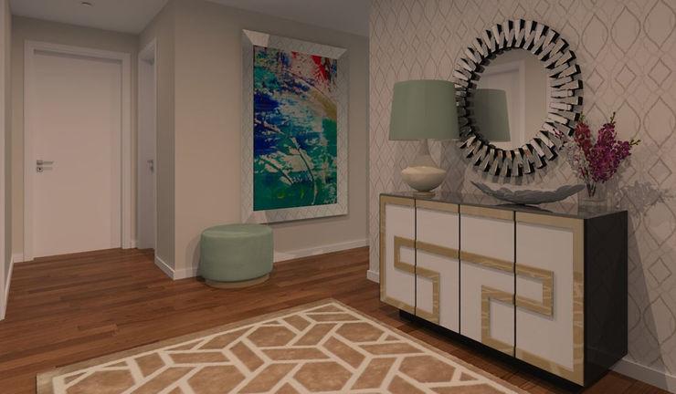 Ana Andrade - Design de Interiores Moderner Flur, Diele & Treppenhaus