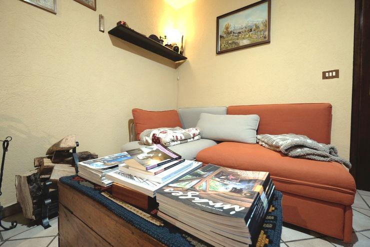 architetto Davide Fornero Living room Wood Beige