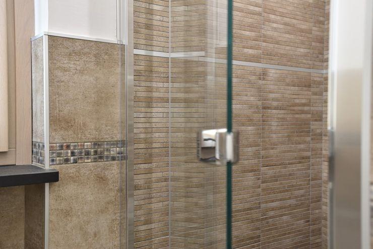 appartamento C+G – 2015 architetto Davide Fornero Bagno moderno Vetro Trasparente