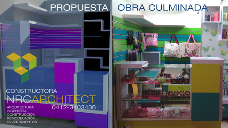 Constructora NRC ARCHITECT C.A. Modern Study Room and Home Office