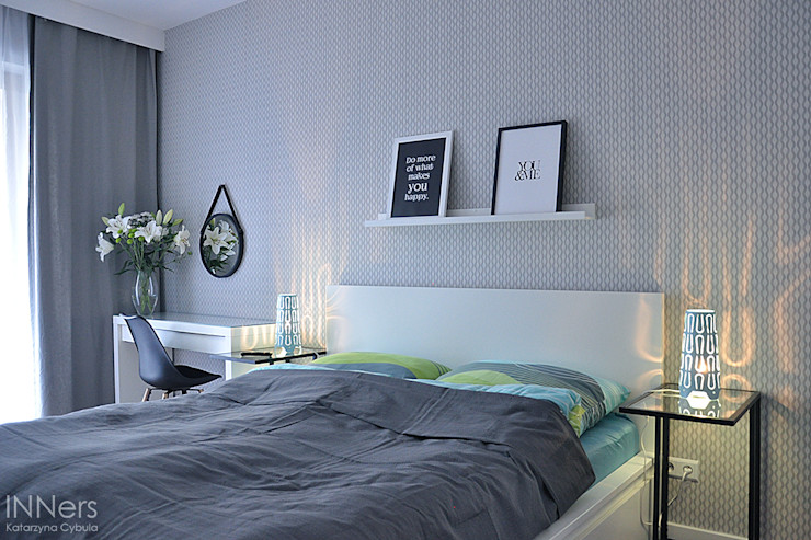 INNers - architektura wnętrza Scandinavian style bedroom