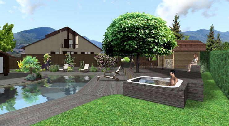 Un spa intégré Anthemis Bureau d'Etude Paysage Spa moderne