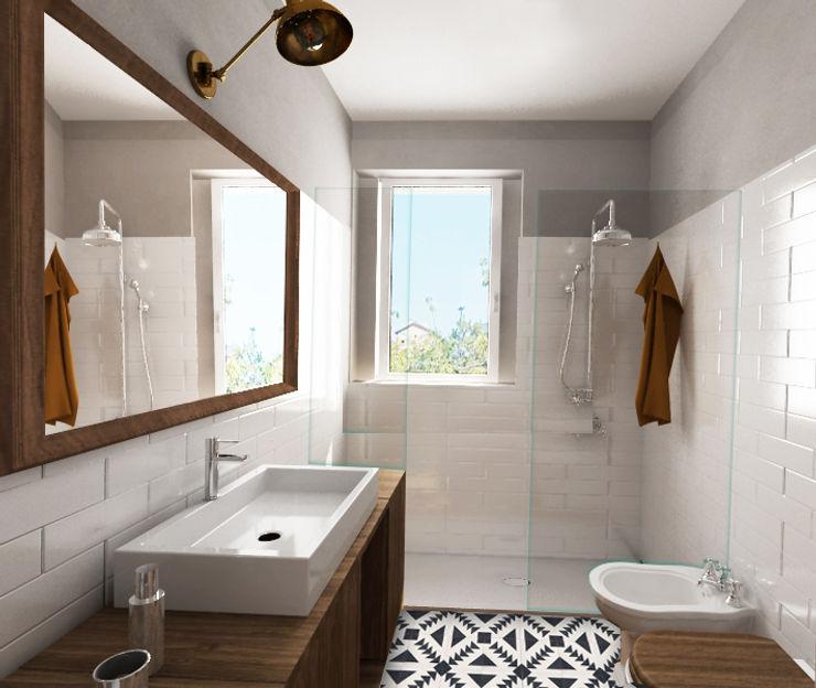 bagno ospiti Euga Design Studio Bagno in stile industriale