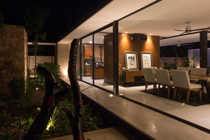 FGO Arquitectura Modern dining room Concrete