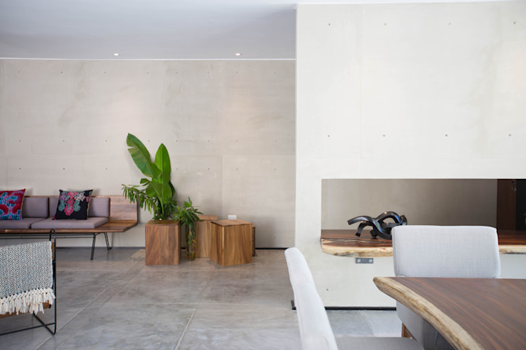 FGO Arquitectura Modern corridor, hallway & stairs Concrete