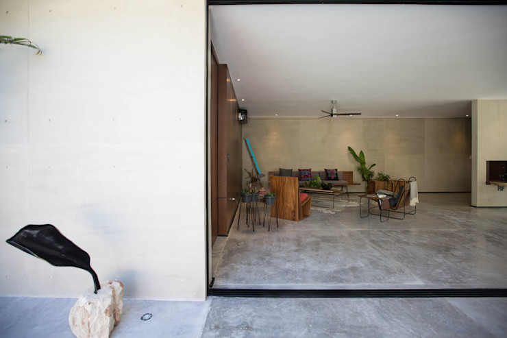 FGO Arquitectura Modern living room Concrete