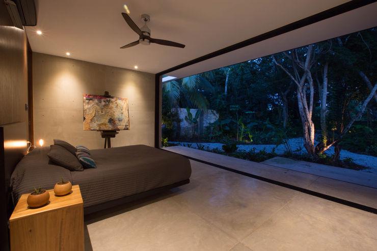 FGO Arquitectura Modern style bedroom Concrete