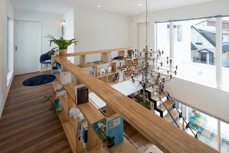 飾り棚・本棚 LITTLE NEST WORKS 多目的室収納 木目調