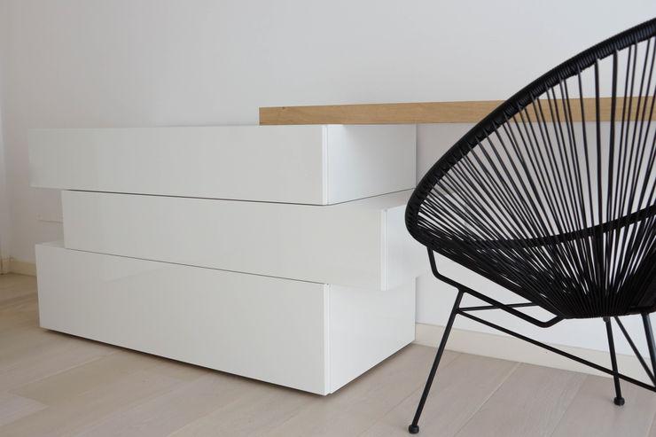 Polihouse Luca Bucciantini Architettura d' interni Camera da letto minimalista Legno Bianco