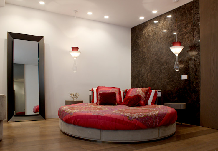 Camera matrimoniale Studio Vesce Architettura Camera da letto in stile classico