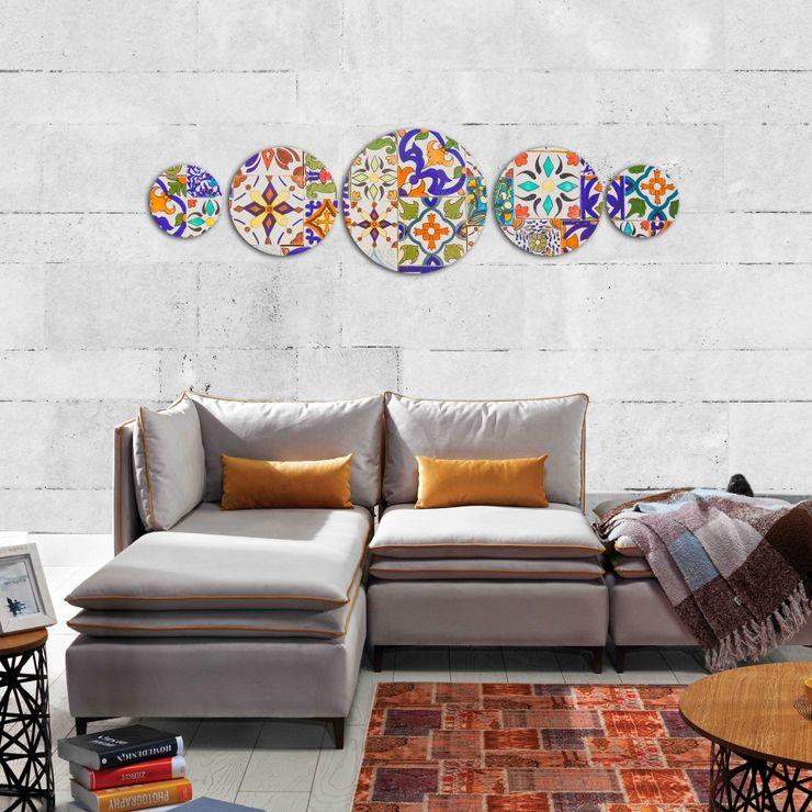 Canvas Pictures 5-pieces Canvas Design Modern Duvar & Zemin