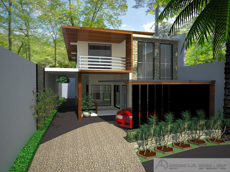 A Two Storey Residence Archcentric Design & Development Modern houses Wood effect