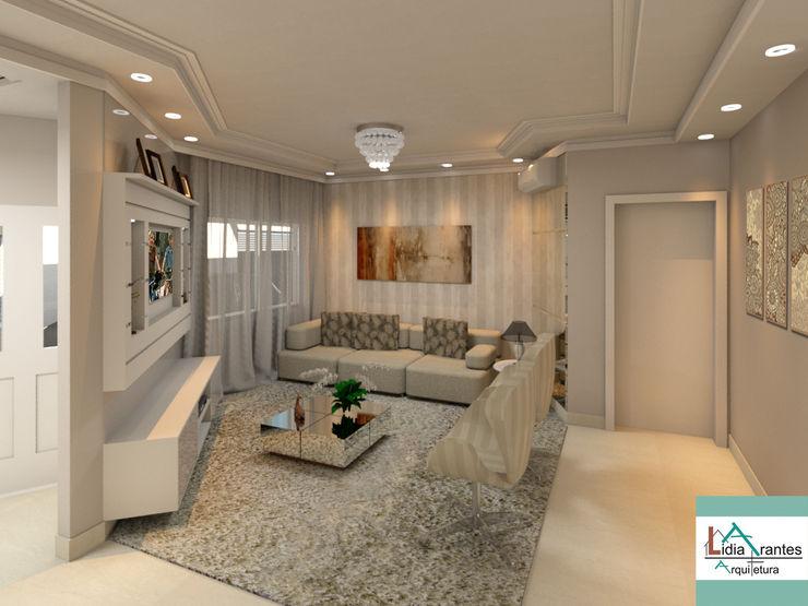 Projeto de Interiores - Residência Munin Lidia Arantes Arquitetura Salas de estar modernas MDF Bege