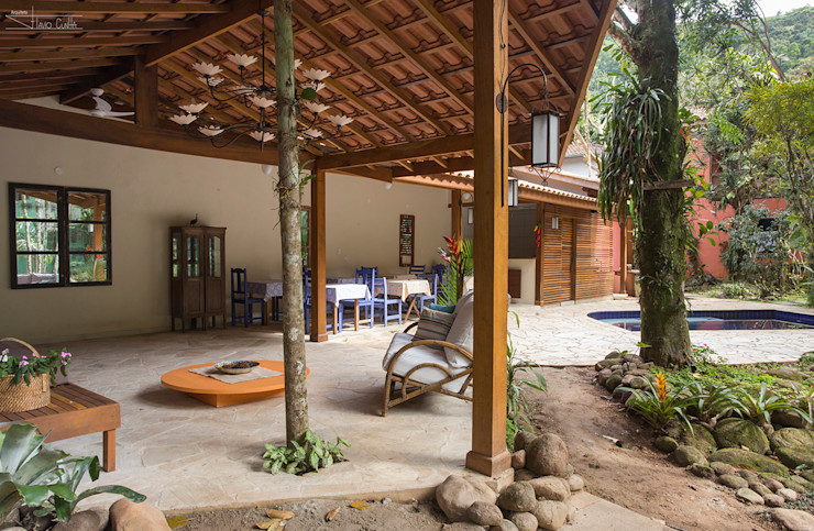 SET Arquitetura e Construções Гостиная в тропическом стиле