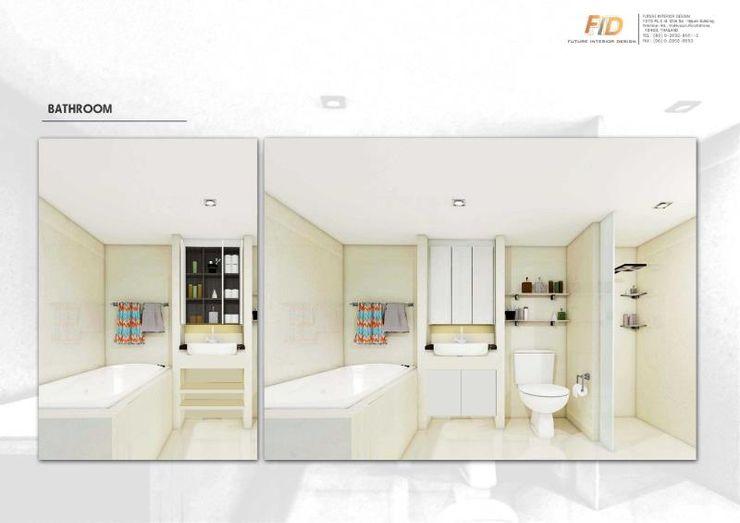The Oleander Condo Future Interior Design Co.,Ltd. ห้องน้ำ