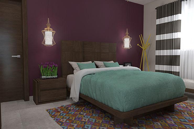 RECAMARA 2 homify Dormitorios de estilo moderno Derivados de madera Morado/Violeta