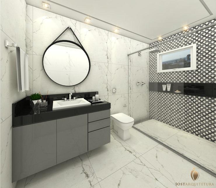 iost Arquitetura e Interiores Baños modernos Piedra Negro