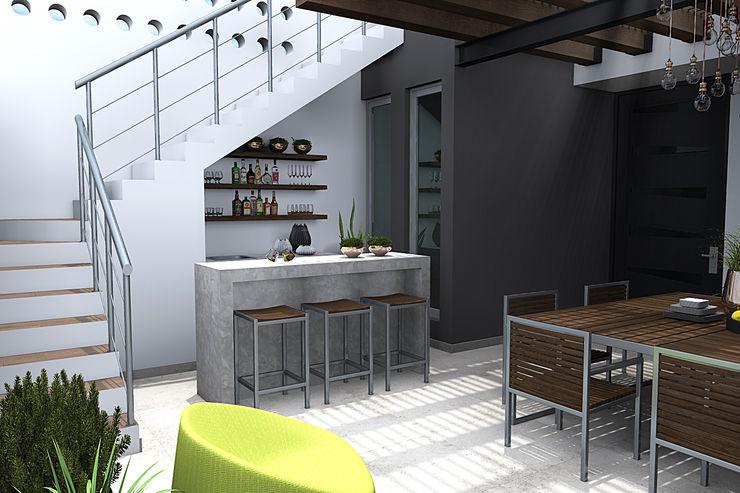 homify Ruang Penyimpanan Wine/Anggur Modern Beton Grey