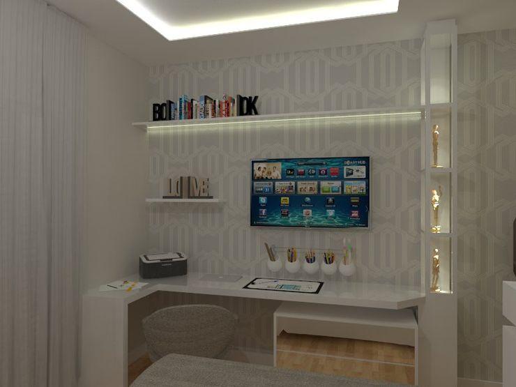 AJR ARQUITETURA Modern style bedroom