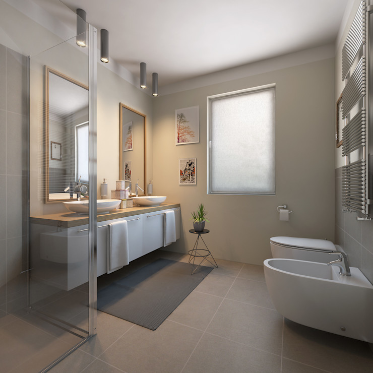 arlan.ch atelier d'architettura Modern Bathroom