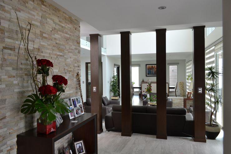 Recibidor ANTARA DISEÑO Y CONSTRUCCIÓN SA DE CV Pasillos, vestíbulos y escaleras modernos Piedra