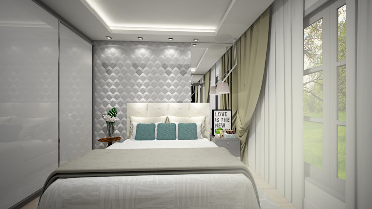 Evelyn Silvestre Arquitetura e Urbanismo Dormitorios de estilo moderno