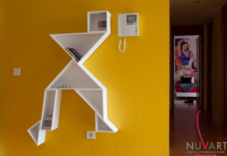 Ático en Castellón NUVART Pasillos, vestíbulos y escaleras de estilo moderno
