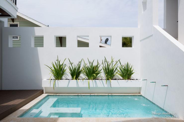 Chibi Moku Architectural Films Piscine moderne Marbre Blanc