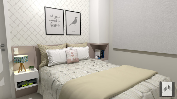 Abitarte - Arquitetura e Interiores Dormitorios de estilo moderno