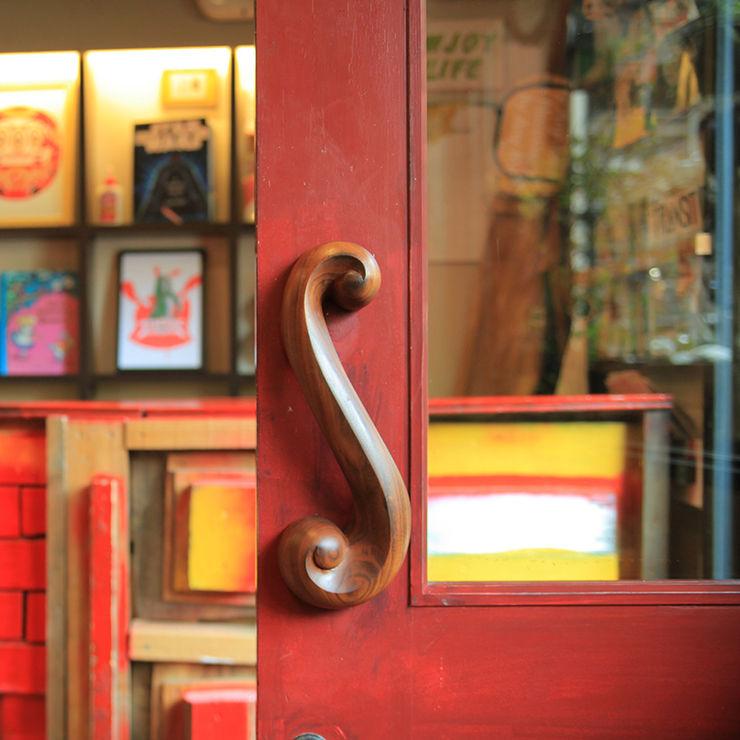 Sugatakatachi Door Handle DH-S-UZUMAKI すがたかたち Windows & doors Doorknobs & accessories Gỗ