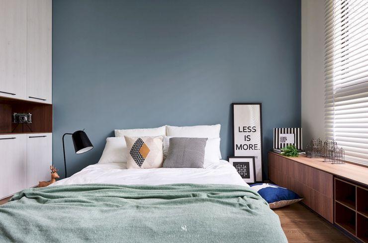 理絲室內設計有限公司 Ris Interior Design Co., Ltd. Minimalist bedroom Blue